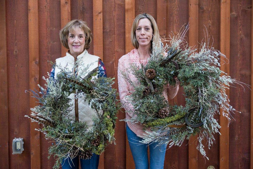 Summer Robbins Flowers Holiday Wreath Workshop FivePine Lodge Sisters Oregon-090 2.jpg