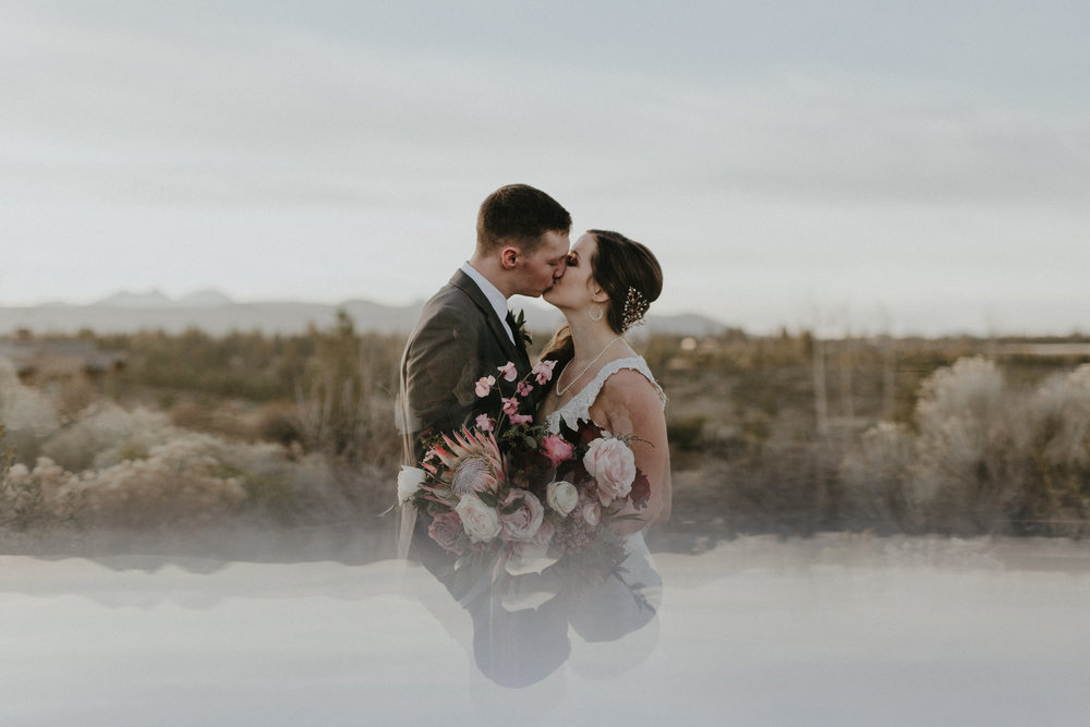 """""""I still dream of the flowers!!! The arch was a dream, my bouquet was a stunner, and our head table was straight out of a fairytale. You are BEYOND amazing and I am so lucky to have had you!!! Thank you for putting so much love and soul into your work. I definitely felt the love that day."""" - Janae, 6/16/18  photo by  Cat Dossett"""