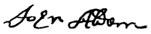John Alden's signature