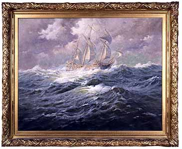The Mayflower At Sea by Margeson