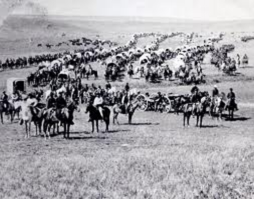 In the 1800s our ancestors migrated west en mass. More than 270,000 pioneers used the Oregon Trail alone.