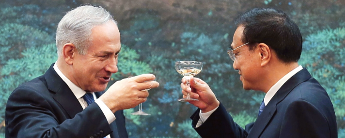 Benjamin Netanyahu with Li Keqiang, China's prime minister, in Beijing, May 2013.