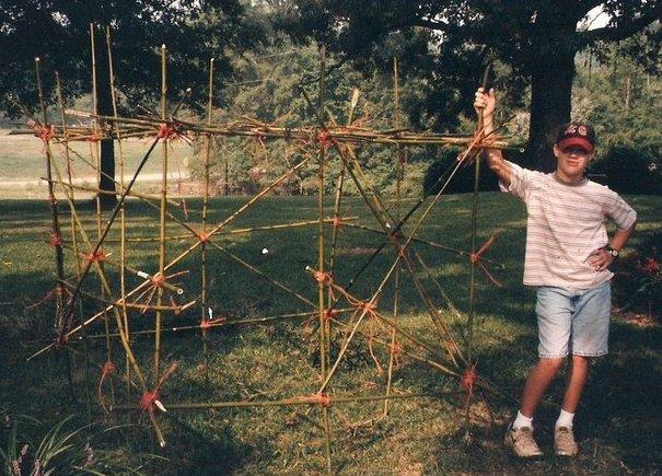 bamboo hut frame 13 yr old