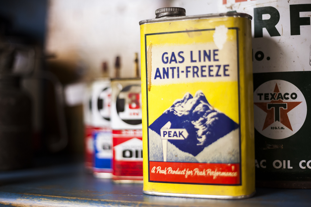 Antique Gas Line Anti-Freeze and Lubricants