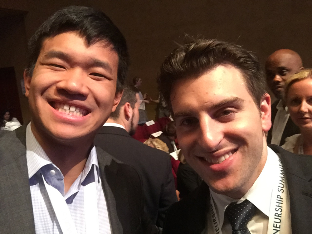 Selfie with Brian Chesky!