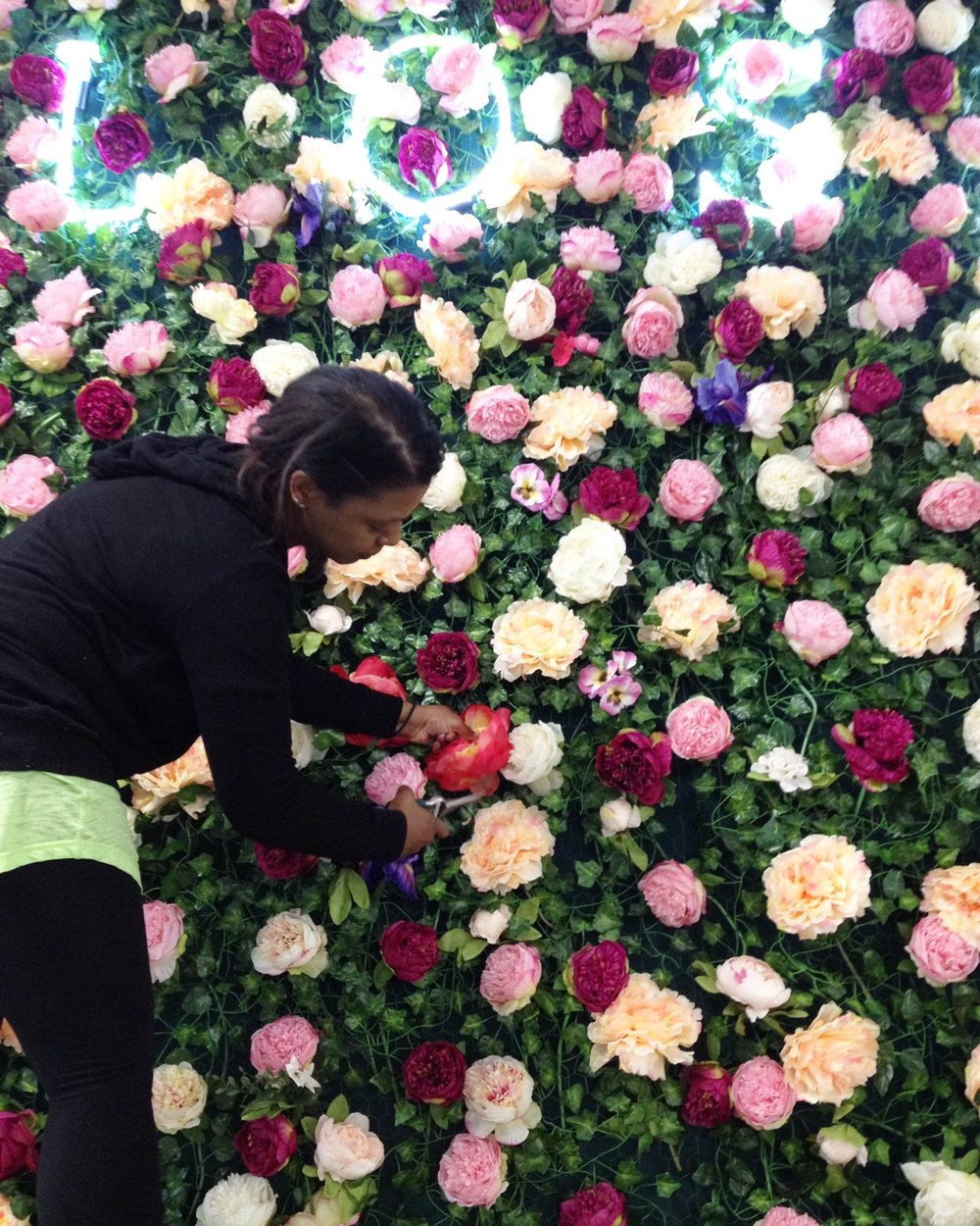 IMG_9071 Flower Wall for Blossom at First Media Jan 2018.JPG