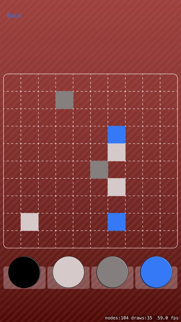 It's still early so I'm not sure if this is the final version but it does make the game easier to play as it's much easier to tell where the empty spaces are. Also, with this approach I can easily generate backgrounds with different colours so I have a bunch of options.