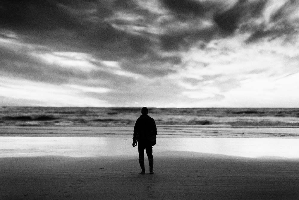 Self portrait on the Oregon Coast. November 2013.