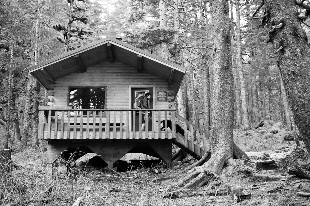 The Derby Cove cabin. We spent two nights here. Normally, I bring my tent but given the potential for rain and chilly April temps, the cabin seemed like a good bet. They are rentable via Alaska State Parks.