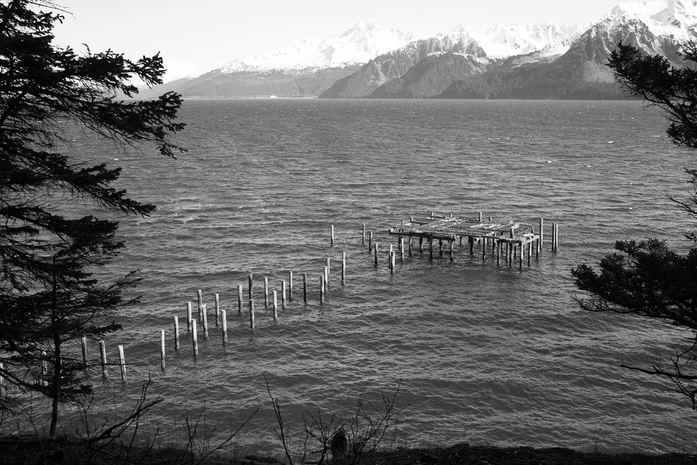 Pier remains from the road to the Head.