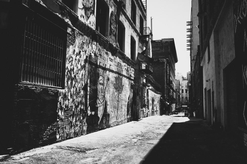 Gated alley. LA. June 2015.