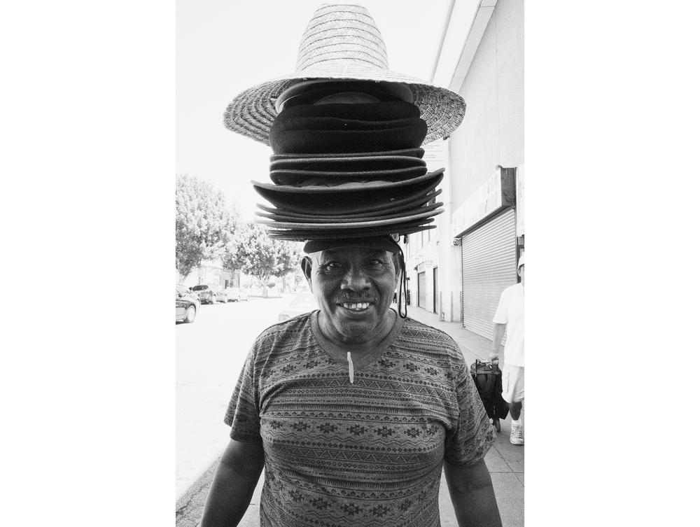 Hat salesman. LA. June 2015.