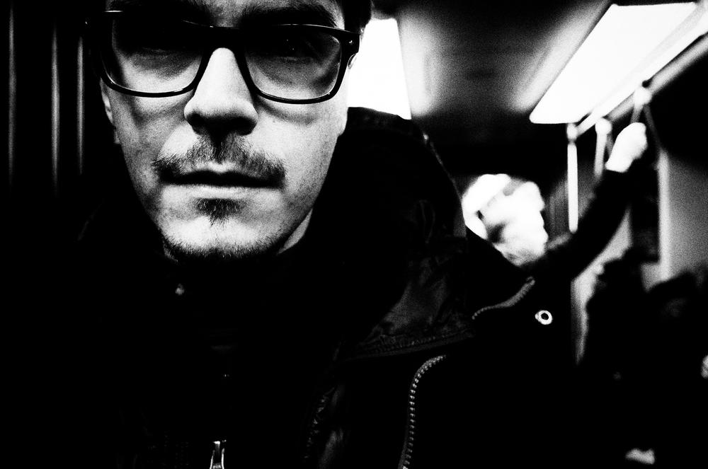 Wyatt on the train. Boston.