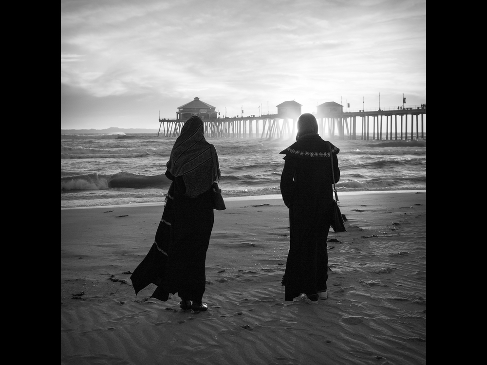 Huntington Beach. I met these women on the beach and they allowed me to take this photo of them.
