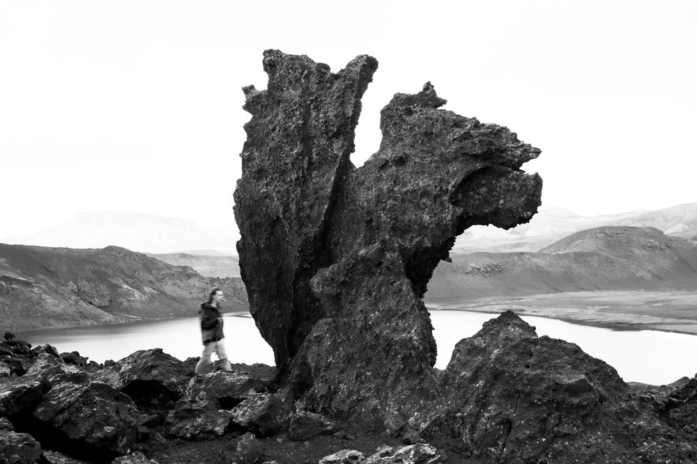 On a ridge near Álftavatn.Laugavegur, day two.