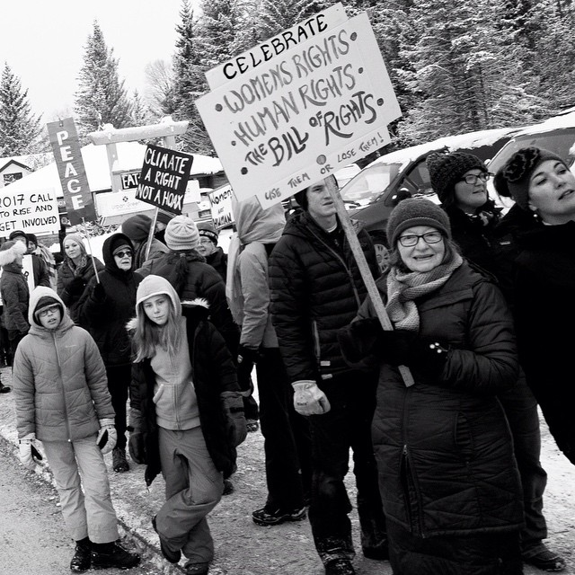 #Womensmarch. #Homer, AK. January 2017.  #shawnbiesselphotos #bnw #lensculture #monochrome #blackandwhite