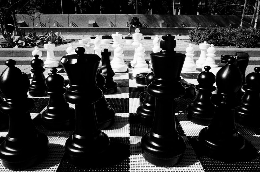 Chess game. Pershing Square.