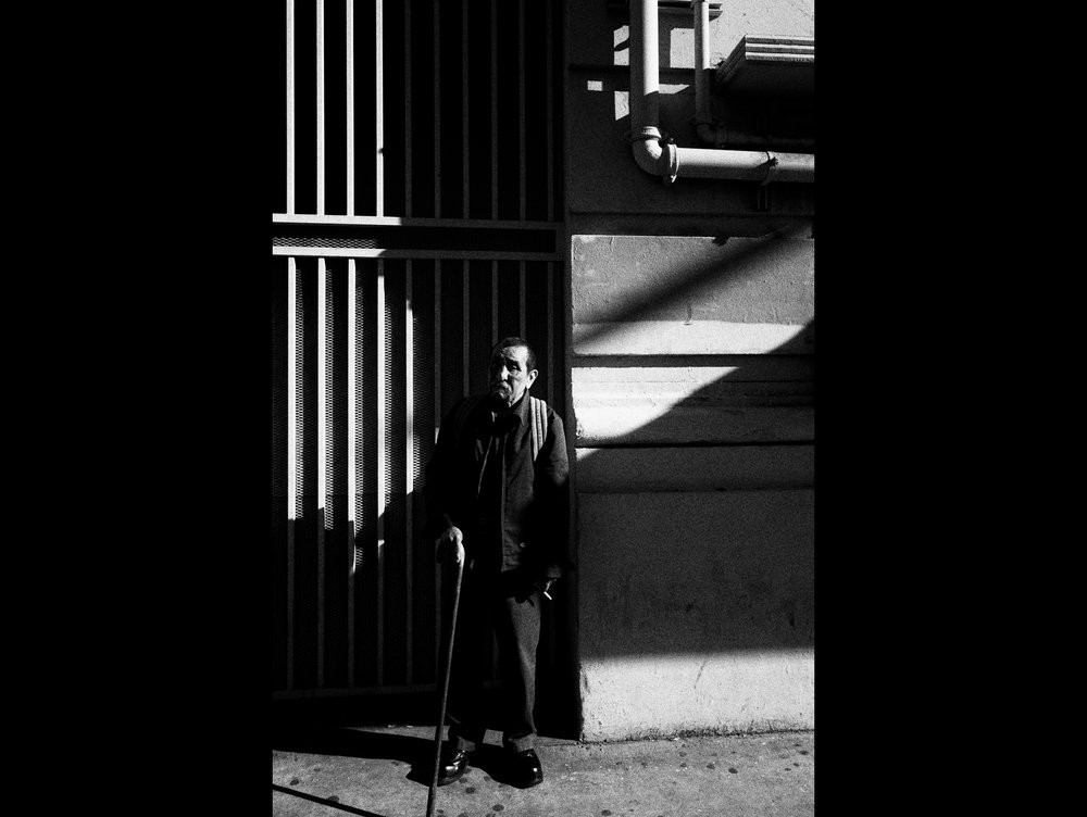 Shadow man. Downtown LA.
