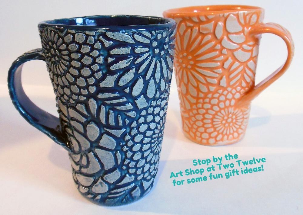 Handbuilt Texture Mugs