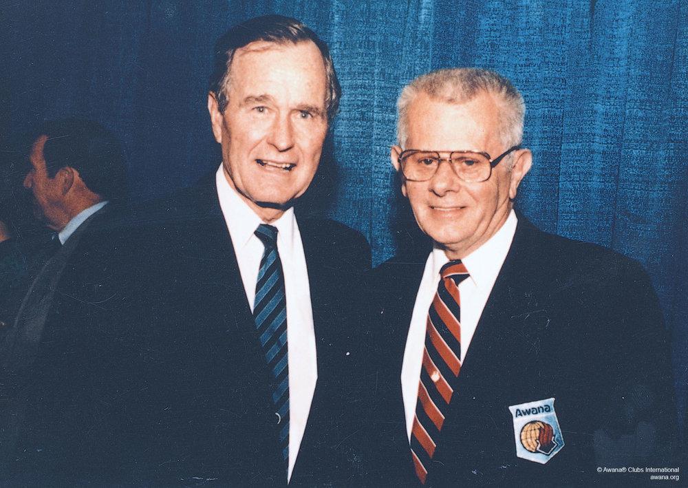 President George H.W. Bush and Art Rorheim