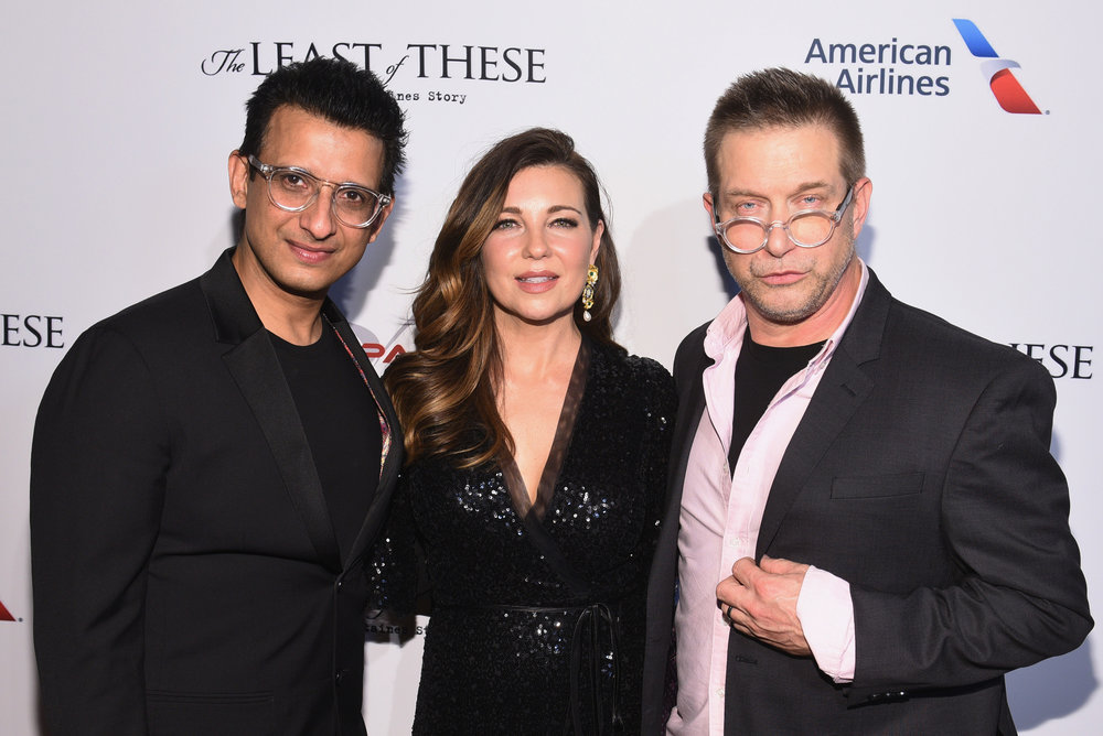 "Sharman Joshi, Shari Rigby and Stephen Baldwin attend the red carpet premiere of Skypass Entertainment's ""The Least of These"" at SVA Theater on Jan. 23, 2019 in New York City. (Photo by Mike Pont/Getty Images for Skypass Entertainment)"