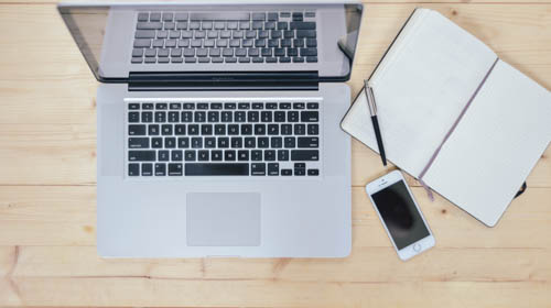 A few tools for your English pronunciation workout or routine: a computer with Internet access, a gadget to record, a notebook to help you keep on track.