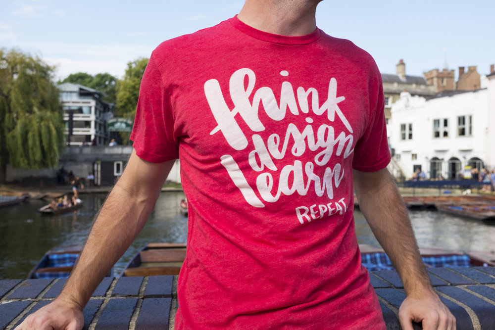 I hand-lettered and designed t-shirts for a conference Redgate sponsored