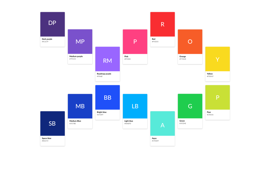 Creating a color palette for the app