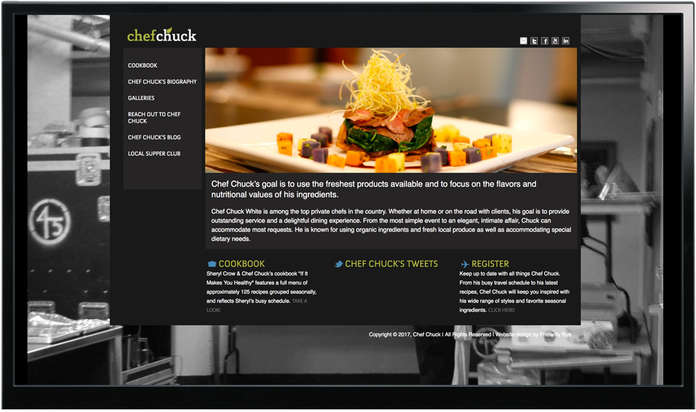 Chef Chuck Website Design & Development
