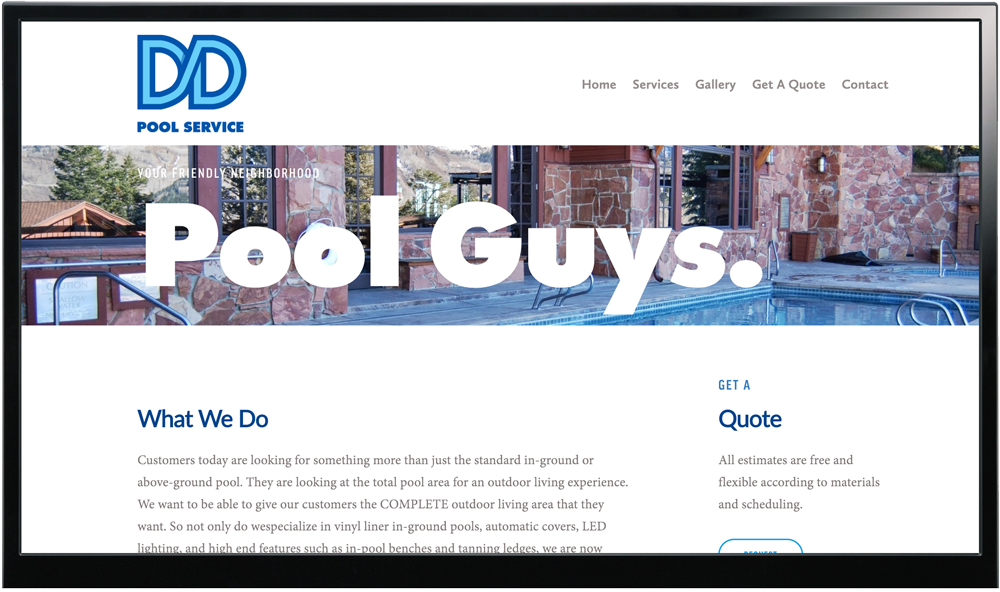 DD Pool Service Website & Logo Design