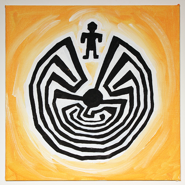 The Man in the Maze, Painting by Ali Spagnola.