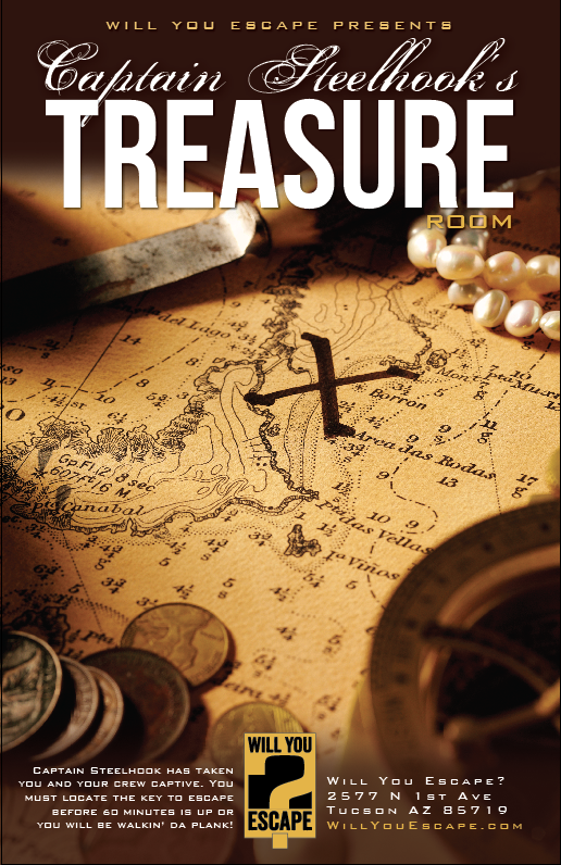 Will You Escape Tucson Captain Steelhook's Treasure
