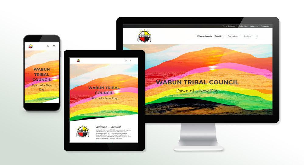 Wabun Tribal Council Website Design & Development -