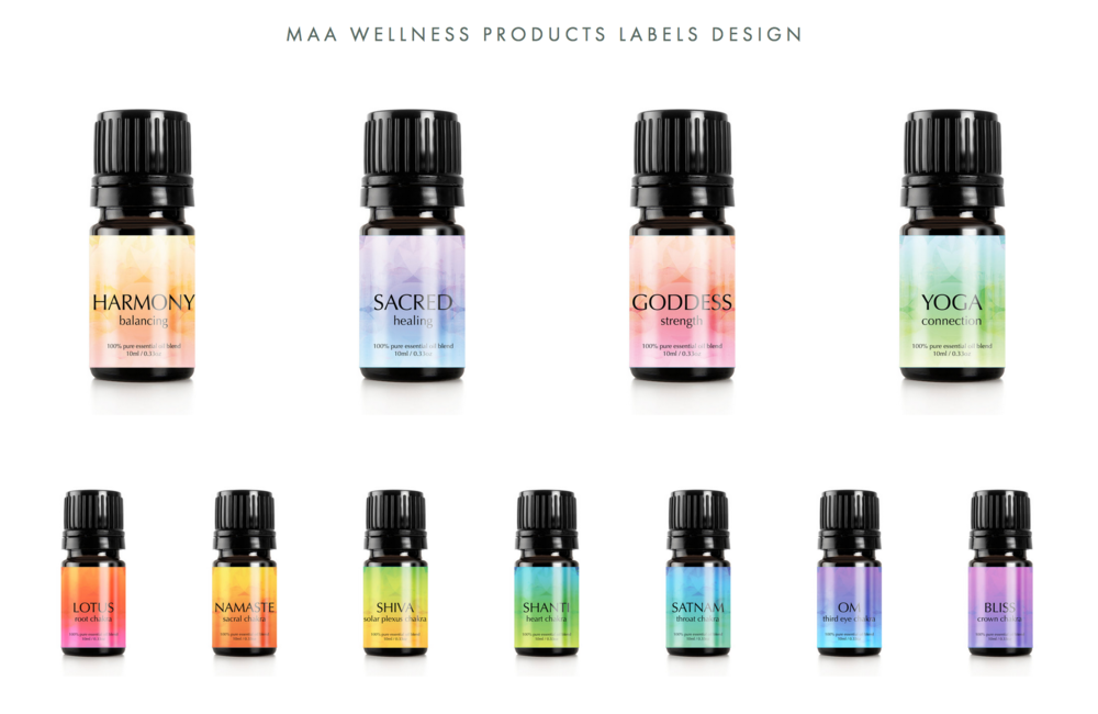 Maa Wellness BeautyLabels Design - Synergistic Design Collaboration