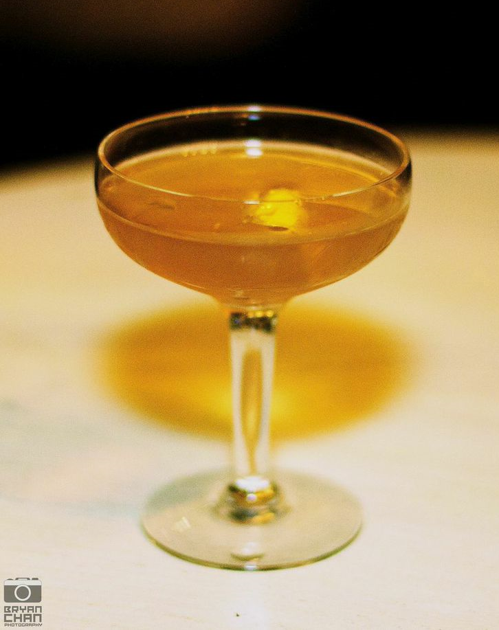 Captain's Orders: Rye, French Vermouth, Allspice Dram, Orange bitters & Absinthe