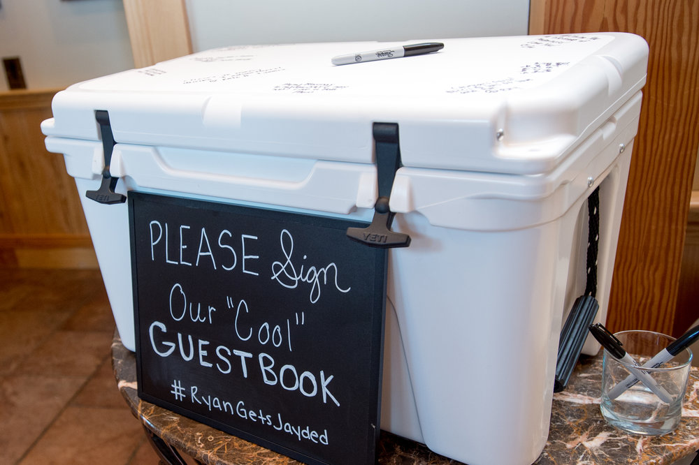 We loved this guestbook idea, a perfect way to remember your special day on all those hot summer nights to come.  Barry Alley Photo