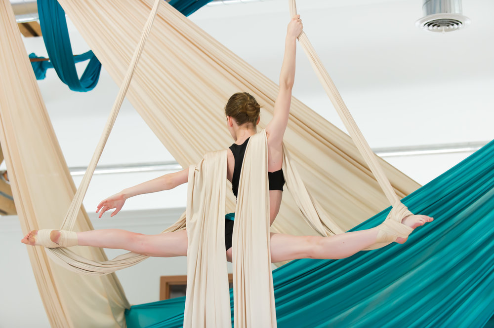 SOLSTICE TERM CLASSES   Fabric. Hoop. Aerial Dance. Aerial Improv. Ballet. Acrobatics. Yoga. Aerial Yoga. And More. Ages 3 through adult.   Register Now