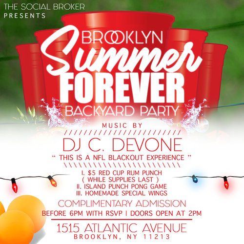 Brooklyn Summer Forever Backyard Party