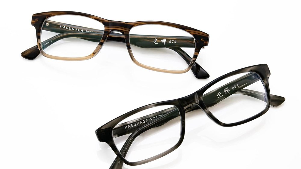 Masunaga eyewear frames are available at Artisan Eyeworks in Ashland, Oregon.