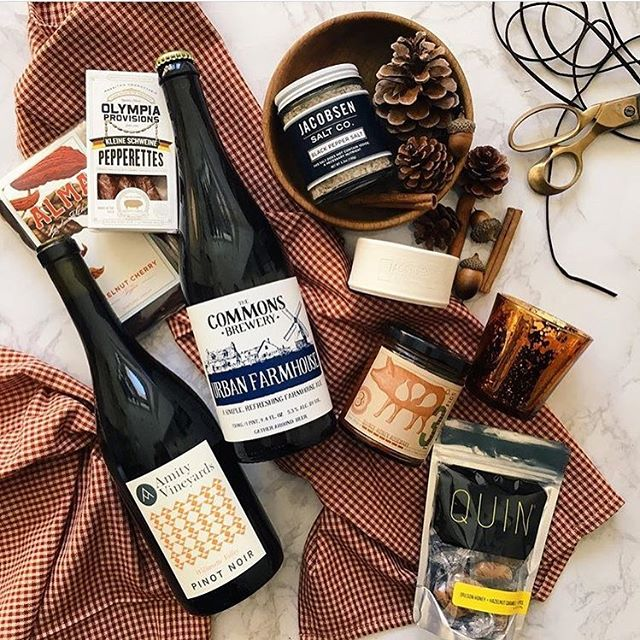 We consider ourselves very lucky to be included in the beautiful gift boxes by @parcelpdx and to be amongst some of our favorite #portland goods. #willamettevalley #eolaamityhills #shoplocal #futuretraditions P:@parcelpdx