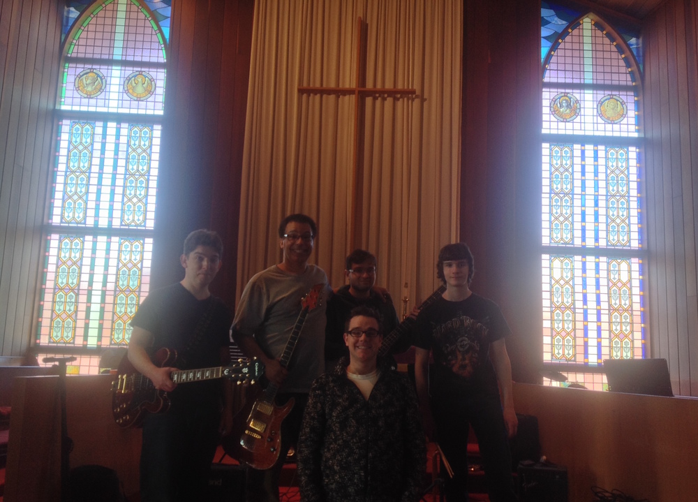 Left to Right: David Siudzinski (guitar), John Carlo Manigualte (guitar), Me (In the Middle), Jimmy Bartenuk (Bass Guitar), Jeffery Bartenuk (Drums)