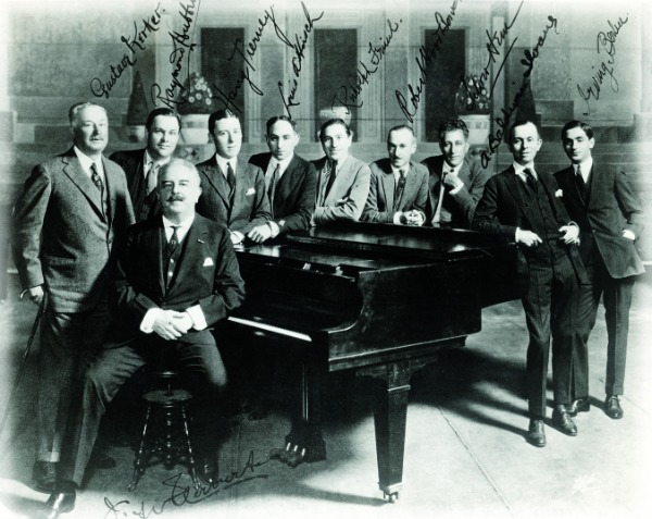 This image is of the founding fathers of ASCAP.  Irving Berlin is all the way to the right.