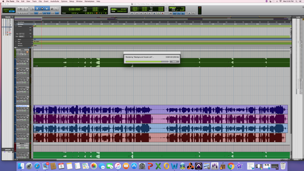 "BEFORE: IN THIS SESSION  I AM ""FREEZING"" THE TRACK WITH THE PURPLE AUDIO"