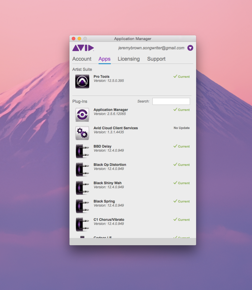 THE AVID APPLICATION MANAGER