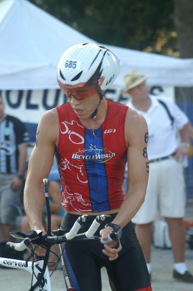 Ironman Derek Cheung, a friend and KarmaSu Coffee customer who inspires us to get out there and swim, bike, and run.