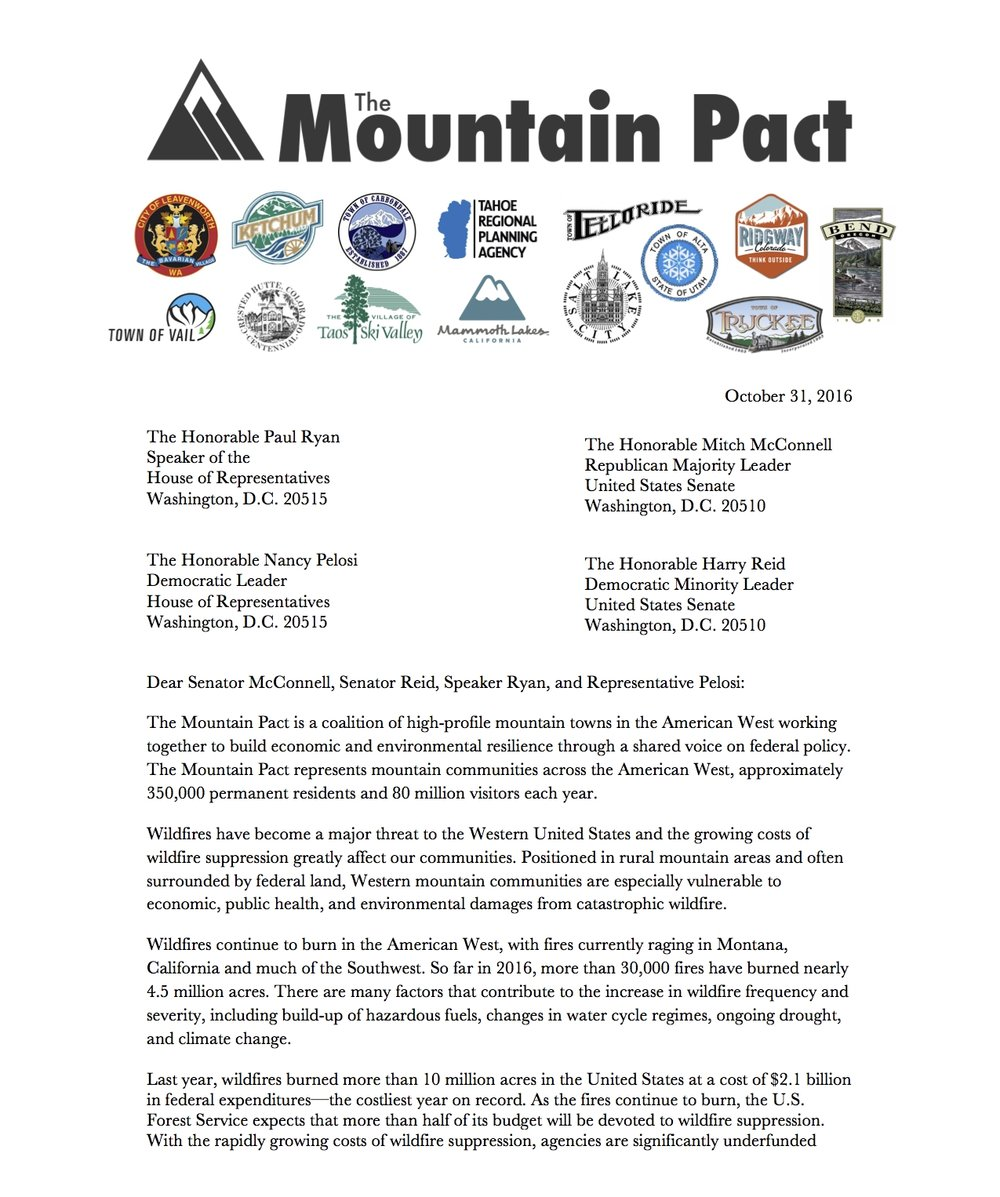 Mountain Pact to Congress re Wildfire_FINAL_Pg. 1