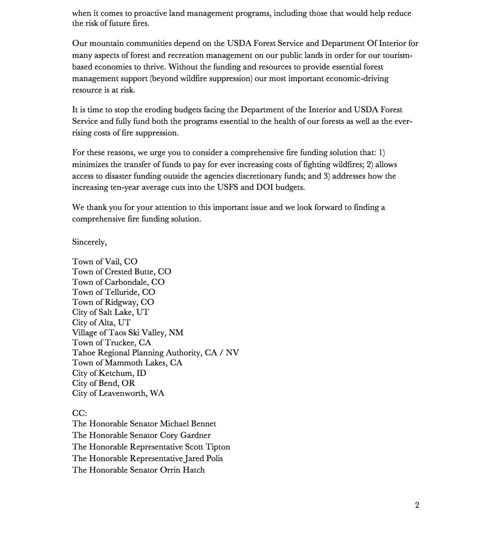 Mountain Pact to Congress re Wildfire_FINAL_Pg. 2