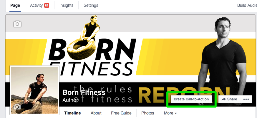 Facebook Born Fitness CTA
