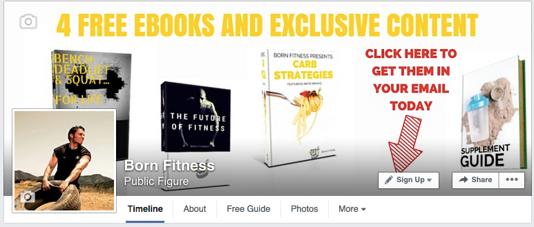 Born Fitness Facebook CTA