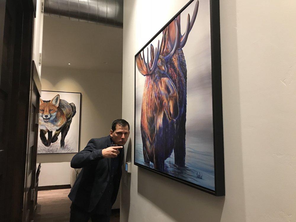 Fine Art Animal Wildlife Moose Paintings and Prints
